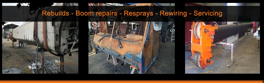 CraneCert rebuilds, repairs, resprays, rewires, services, overhauls and load tests mobile cranes, tower cranes and booms